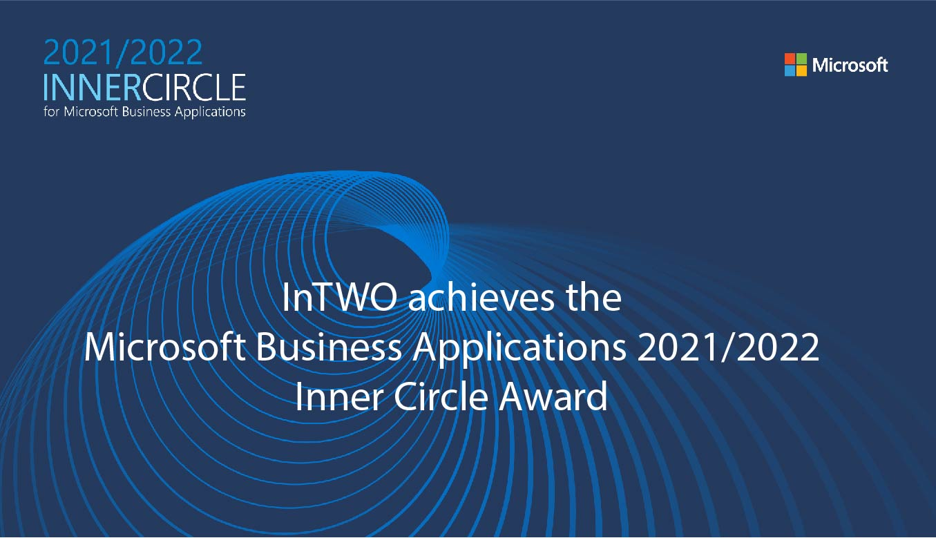 InTWO achieves the Microsoft Business Applications 2021/2022 Inner Circle Award